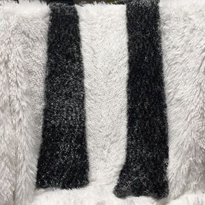 Beautiful black gray and white scarf